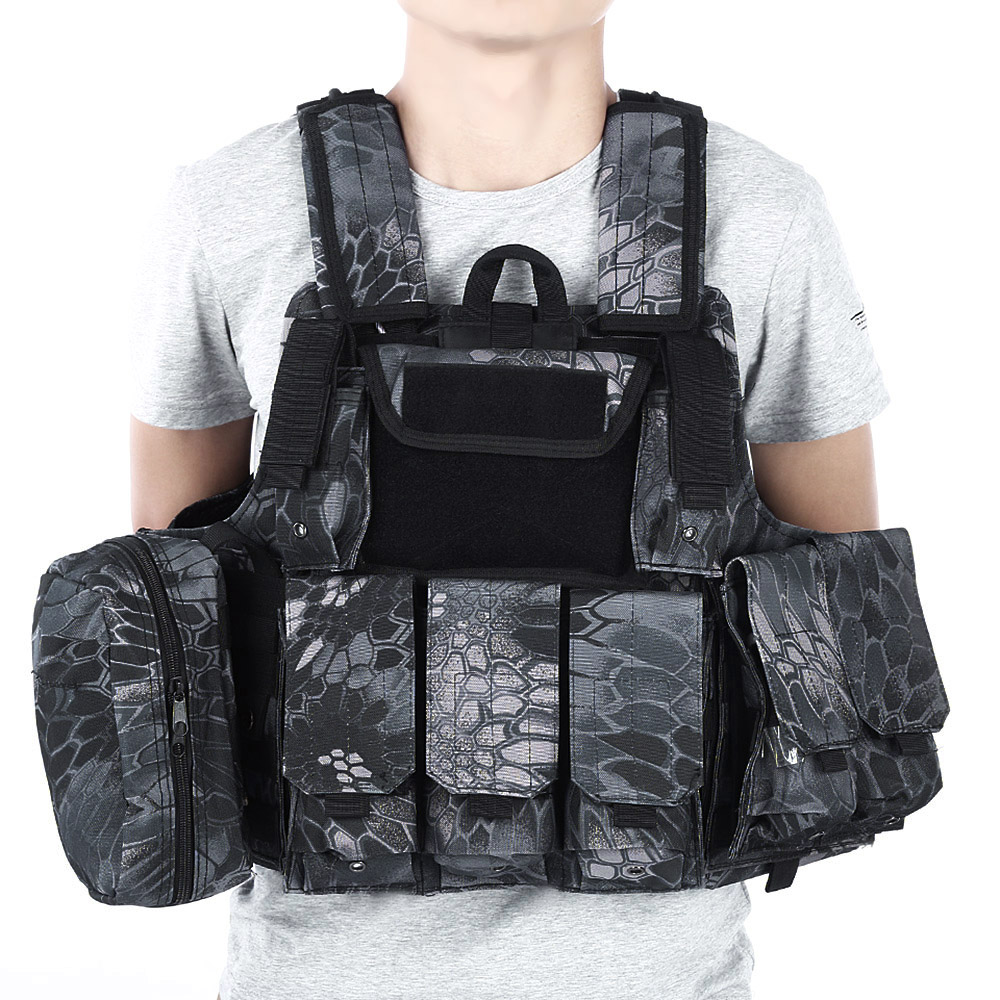 CS Tactical Hunting Vest Molle Military Waistcoat Assault Plate Carrier Vest Airsoft Paintball Combat Vest with Magazine Pouch hot selling jiepolly military vest four in one tactical vest top quality nylon airsoft paintball combat assault protective vest