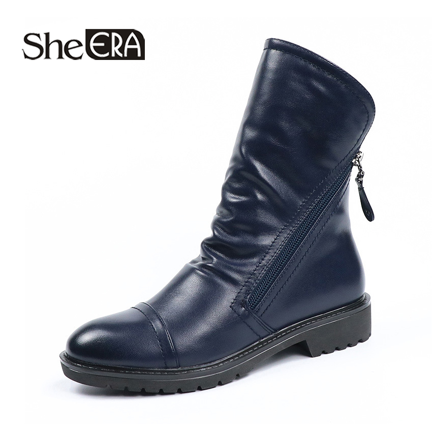New Fashion Women Boots PU Women Ankle Boots Black/Blue Casual Lady Shoes Spring/Winter Zip Female Shoes She ERANew Fashion Women Boots PU Women Ankle Boots Black/Blue Casual Lady Shoes Spring/Winter Zip Female Shoes She ERA