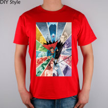 Justice League Superheroes Casual Fashion Cotton Men's T-shirt