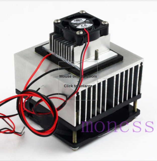 Thermoelectric Peltier Refrigeration Cooling System Kit Cooler For DIY  TEC 12706 Mini Air Conditioner J10