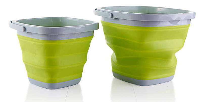 High Quality 10L Square Bucket Portable Folding Washing Hands Basin Foldable Camping Outdoor Fishing Sink Storage Water11
