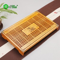 High Quality Natural Wooden Tea Tray Chinese Kung Fu Wood Tea Board With Drainage Water Storage