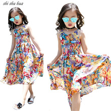 Girls Clothes Fashion Straps Jumpsuits Floral Print New Summer Child Clothing 5-13 Y Roupas Infantis Ball Gown 2019 Hot Sale