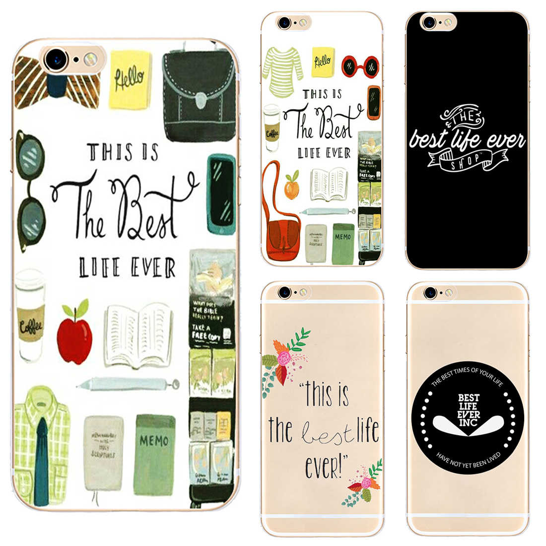 The Best Life Ever Hard Clear Phone Case Cover For Samsung s8 s9plus S6 S7Edge S5 for iPhone 7 6s 8plus 5s 5c 4 X XS XR XSMAX