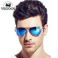 VEGOOS Bất Polarized Men Pilot Hàng Không Sunglasses Flash Ống Kính Nhân Đôi Phụ Nữ Thương Hiệu Thiết Kế Chất Lượng Cao Sun Glasses # 3025MC
