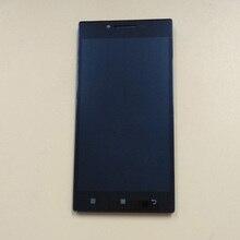Купить онлайн Для lenovo P70 P70-t P70t P70-A Сенсорный экран Панель планшета Сенсор Стекло + ЖК-дисплей Дисплей монитор Панель модуля в сборе + рамка