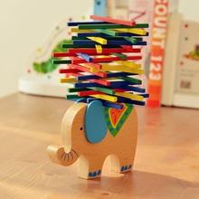 Sensory Toy Elephant/Camel Balance Wood Toy For Children Wooden Blocks Game For Children Educational Montessori Toys Baby Math flyingtown montessori teaching aids balance scale baby balance game early education wooden puzzle children toys
