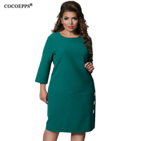 2018 Spring Fashionable Women Dresses Of Big Size 5XL 6XL Plus Size Casual Ladies Office Warm