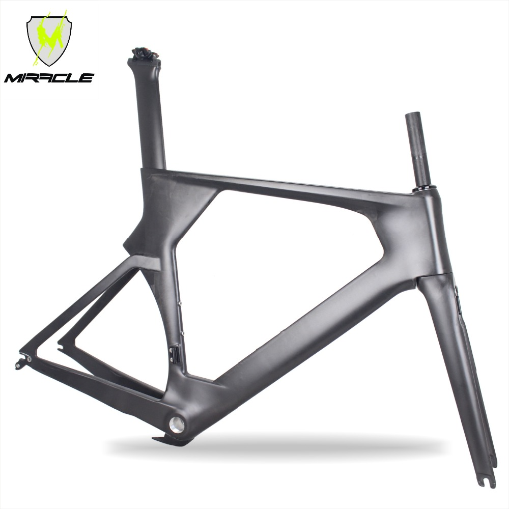 Miracle Hot Sell Full Carbon Time Trail Bicycle Frame,warranty 2 Years T700 Carbon Triathlon Bike Frame,TT Frame Carbon