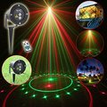 Remote Red Green 20 Patterns Latest Laser Light Outdoor Waterproof Laser Garden Party Projector Landscape decorative Lights Show