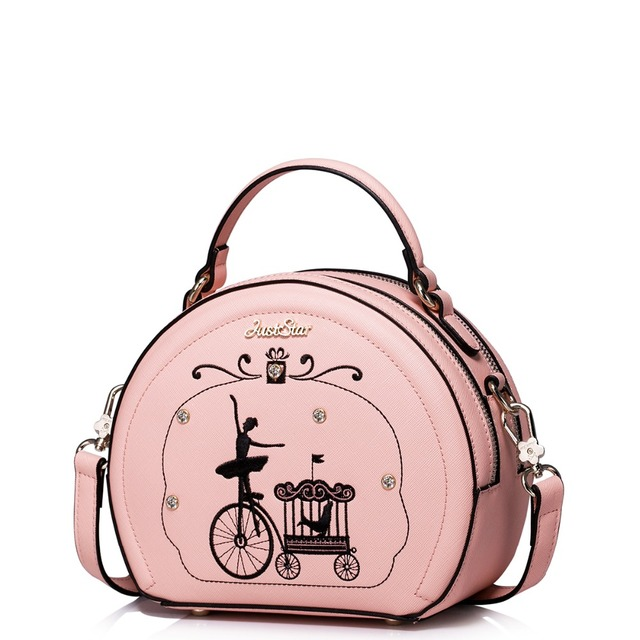 Women S Rivet Embroidered Pattern Double Zip Dome Bag Convertible Top Handle Shoulder Cross Body Messenger Purse