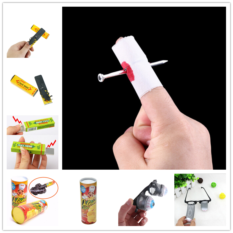 Toys & Hobbies 1pcs Novelty April Fools Day Spoof Person Funny Gadgets Tricky Toys Surprised Cockroaches Gum Shock Party Favors