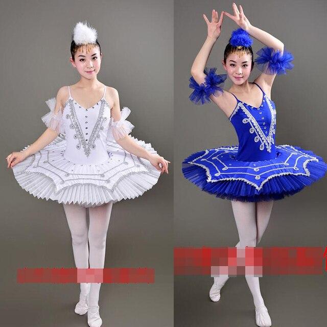 92af47fffc5f Blue Swan Lake Ballet Costumes Adult Professional Platter Tutu ...