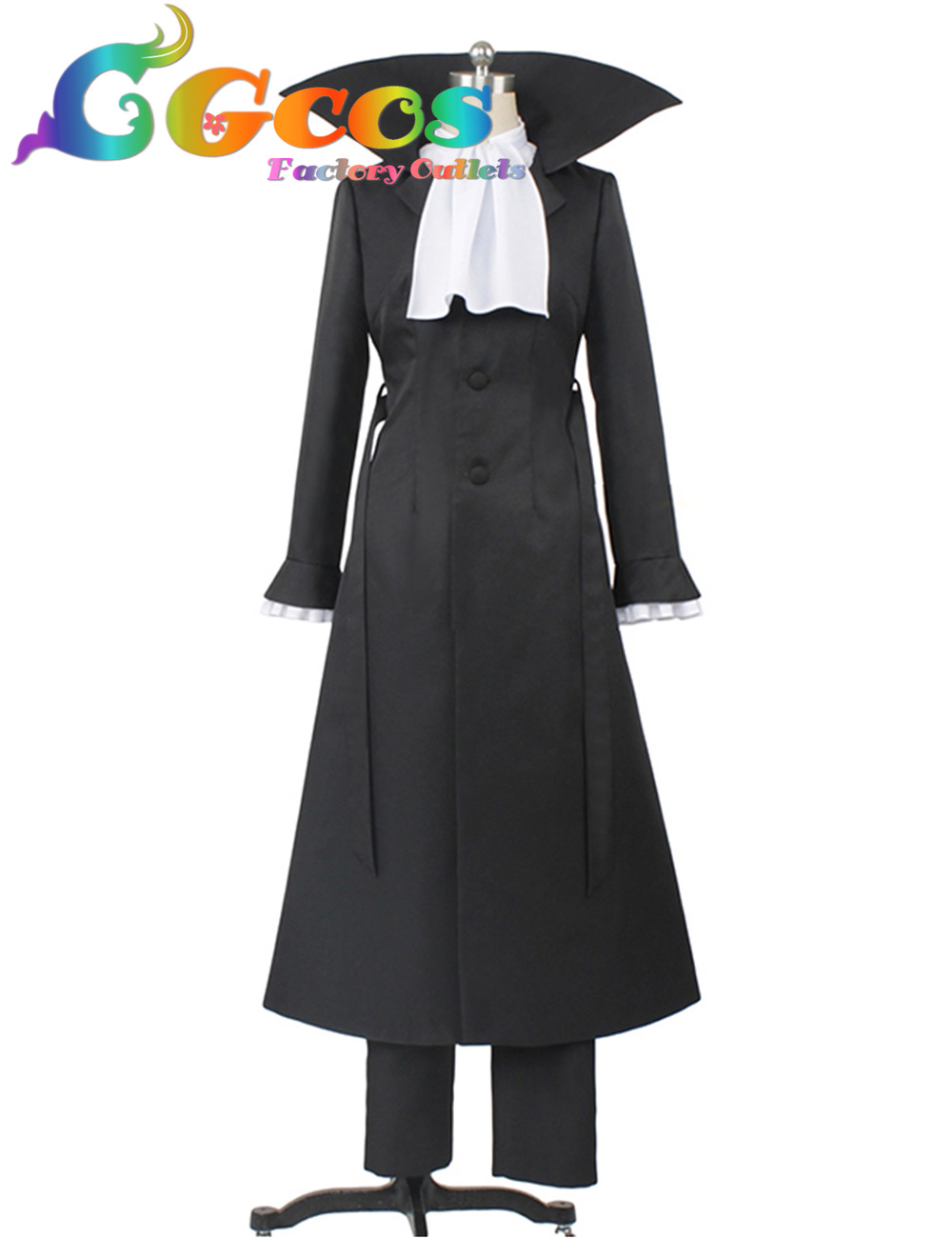 CGCOS Free Shipping Cosplay Costume Bungo Straydogs Ryunosuke Akutagawa Uniform Any Size New in Stock Halloween Christmas Party