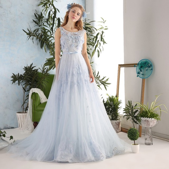 Elegant Seductive Sleeveless Lace Applique Beading Tulle Long Prom Dresses  2017 Corset Women Evening Dress Formal Party Gowns 87ae4fcc8008