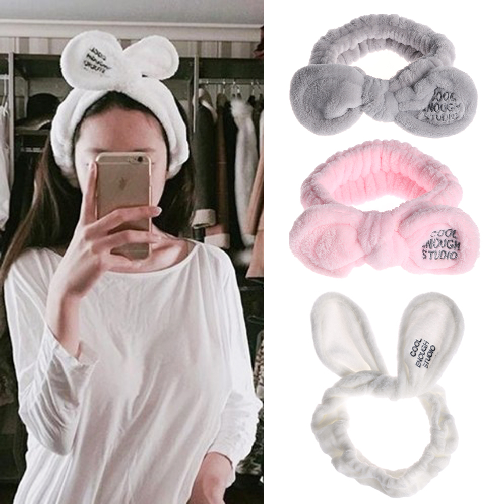 Constructive 2019 New Fashion Women Cute Big Ears Comfortable Wash Face Bathe Hair Holder Elastic Headband Girls Hairbands Hair Accessories Excellent Quality