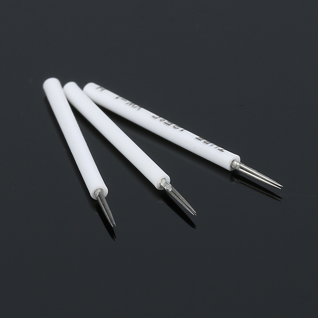 10pcs Professhional Eyebrow Tattoo Pen Needle Tattoo Blades Round 3 Pins For Semi Permanent Eye Brow Makeup Accessories
