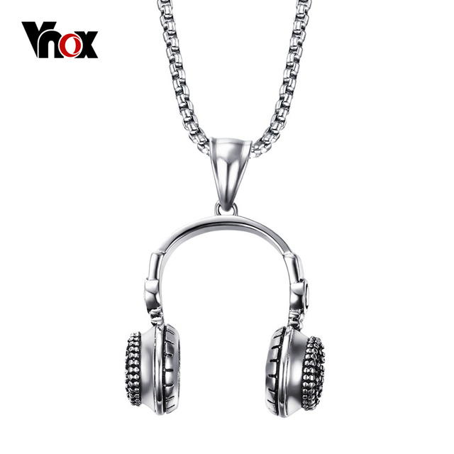 Vnox punk headset style mens necklace stainless steel vintage vnox punk headset style mens necklace stainless steel vintage necklaces pendants for men jewelry free aloadofball Image collections