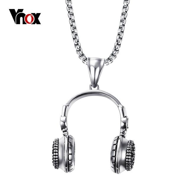 Vnox punk headset style mens necklace stainless steel vintage vnox punk headset style mens necklace stainless steel vintage necklaces pendants for men jewelry free aloadofball Choice Image