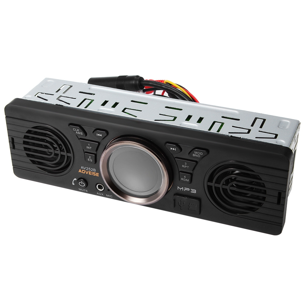 Zeepin AV252B Car Stereo Audio 12V Bluetooth 2.1 + EDR Vehicle MP3 Audio Player Autoradio FM Radio With USB / TF Card Port image