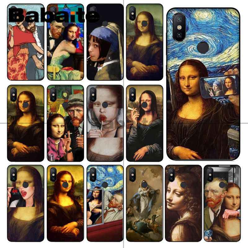 Babaite Mona Lisa funny Spoof Art Van gogh Starry Phone Case cover Shell For redmi 5plus 5A 6pro 4X note5A note4x note6pro coque