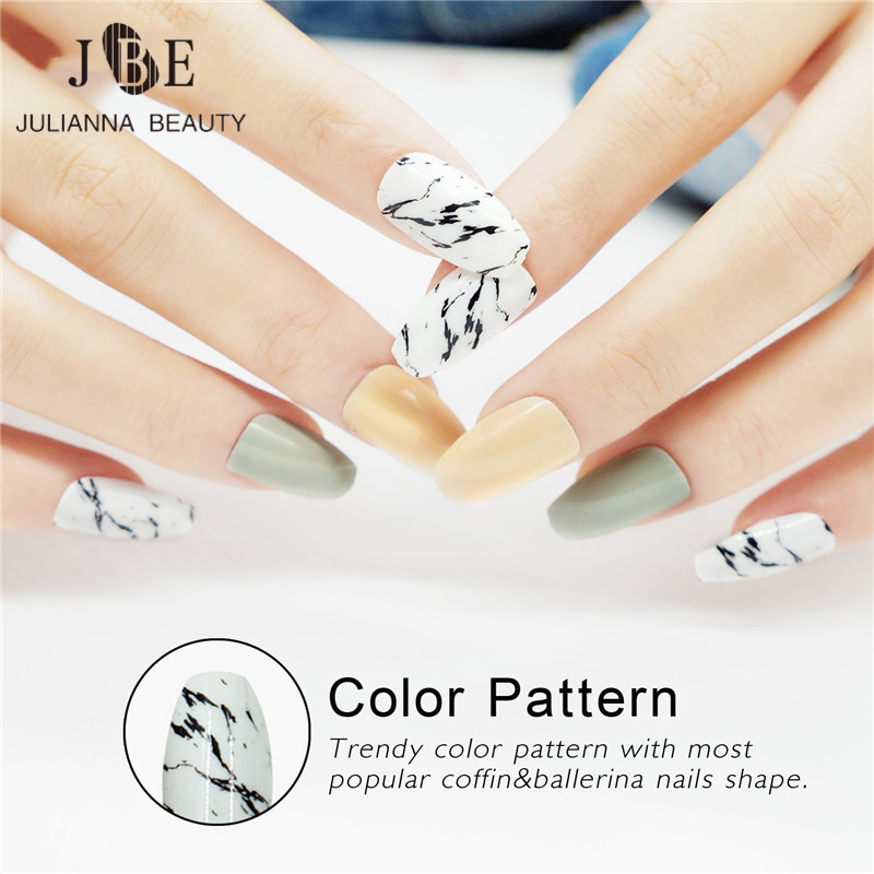 Beautiful Flowers 24pcs French Printing False Nail Tips Art Design Fake Nails Back To Search Resultsbeauty & Health False Nails