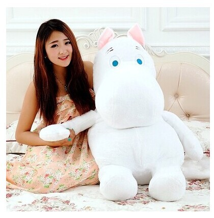 huge lovely white creative hippo toy plush doll cartoon moomin hippo doll pillow birthday gift toy about 100cm the huge lovely hippo toy plush doll cartoon hippo doll gift toy about 160cm purple