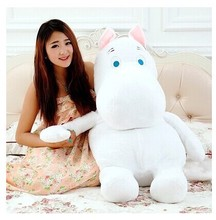 huge lovely white creative hippo toy plush doll cartoon moomin hippo doll pillow birthday gift toy about 100cm