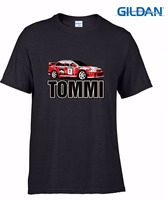 Personalized T Shirt Custom Cotton Slim Fit Crew Neck Mens Rally Car T Shirt Birthday Gift