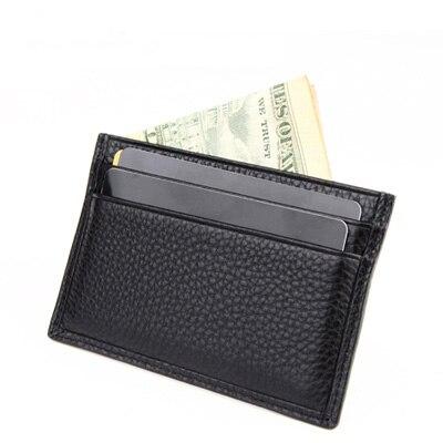 Nouveau unisexe grande remise en cuir véritable nom carte sac à main ID détenteurs de crédit portefeuille sacs Clip livraison gratuite