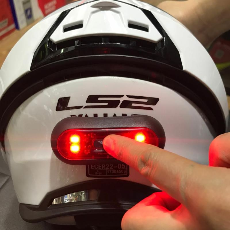 Universal Helmet Flashing Led Light Night Riding Adhesive Safety Blink rechageable  9
