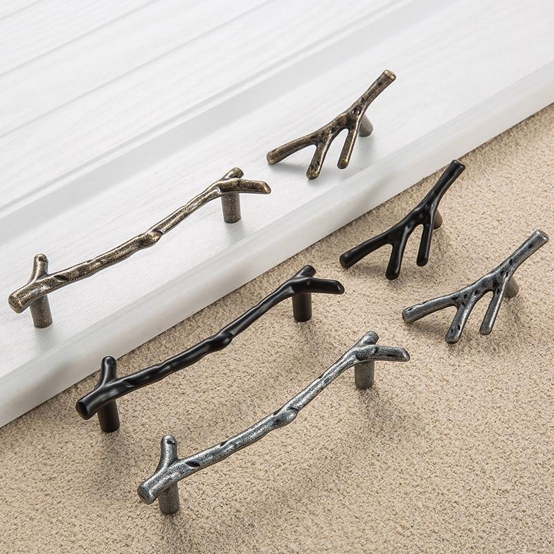 European Tree Branch Design Furniture Handle Kitchen Cabinet Drawer Door Knob  Closet Cupboard Dresser Handles Pull Hardware