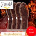 2 pair/lot High quality antibacterial  Active carbon linen remove odors Insoles,Increased winter thick  warm insole