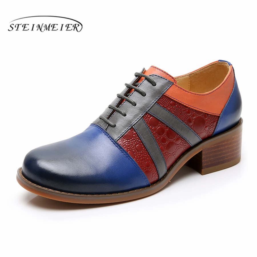 Yinzo Women genuine leather oxford pumps shoes vintage brogues lady casual Pumps oxford heels shoes for women 2019 springYinzo Women genuine leather oxford pumps shoes vintage brogues lady casual Pumps oxford heels shoes for women 2019 spring
