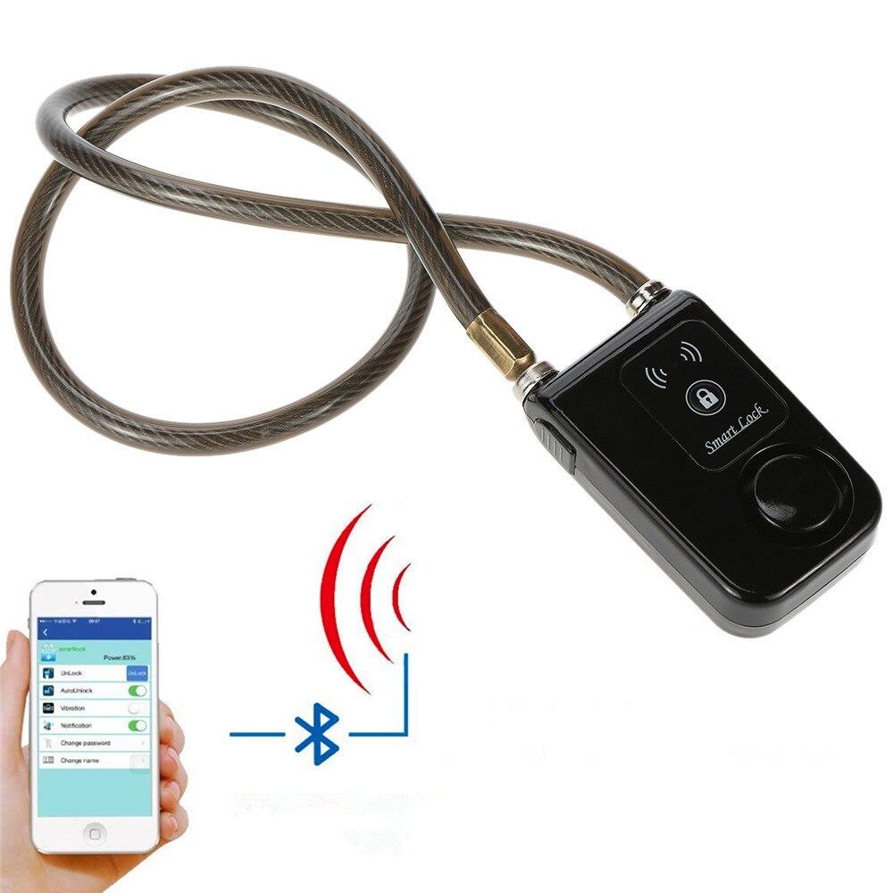 Bluetooth Intelligent Serrure avec Alarme Vélo Intelligent Serrure Vélo/Moto Serrure Sans Clé APP Contrôle