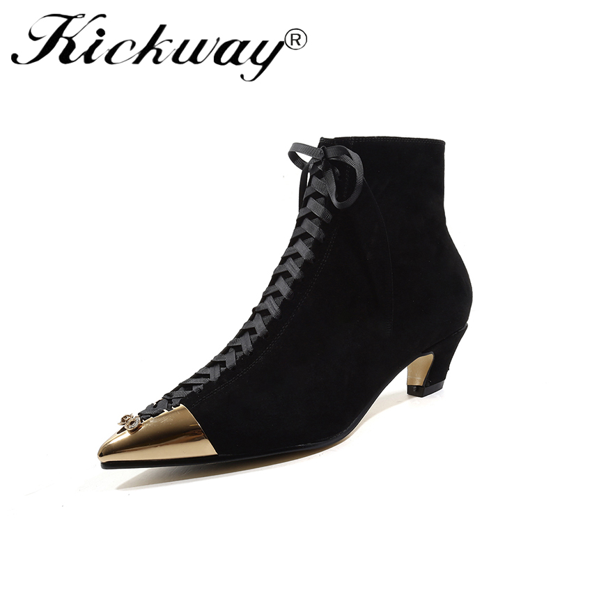 c7a3b58eebfee Carré Black Filles Chaussons Dames Zapatos Bas Femmes Chunky Chaussures  Mujer Chaussure Kickway Femme Sapato Bottines ...