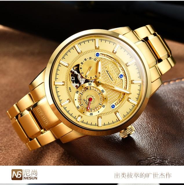 Luxury Brand NESUN Swiss Men's Watch Automatic Mechanical 2