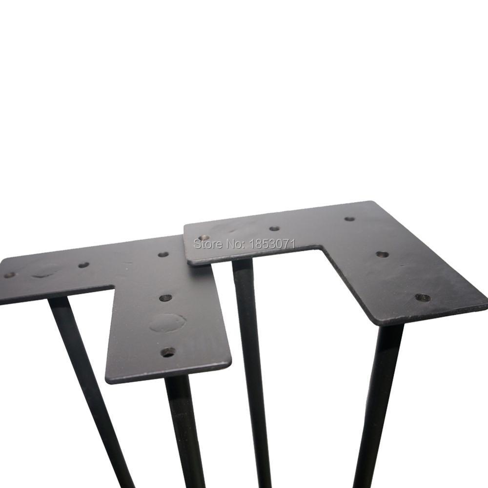 28 epingle a cheveux jambes noir mat 2 tiges ensemble de 4 table a manger jambes ordinateur de bureau jambes pied de table en acier dans pieds de meubles