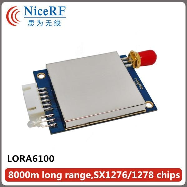 4pcs/lot Lora6100 1W 8km long range 470MHz TTL Interface high Sensitivity -139 dBm uart wireless module
