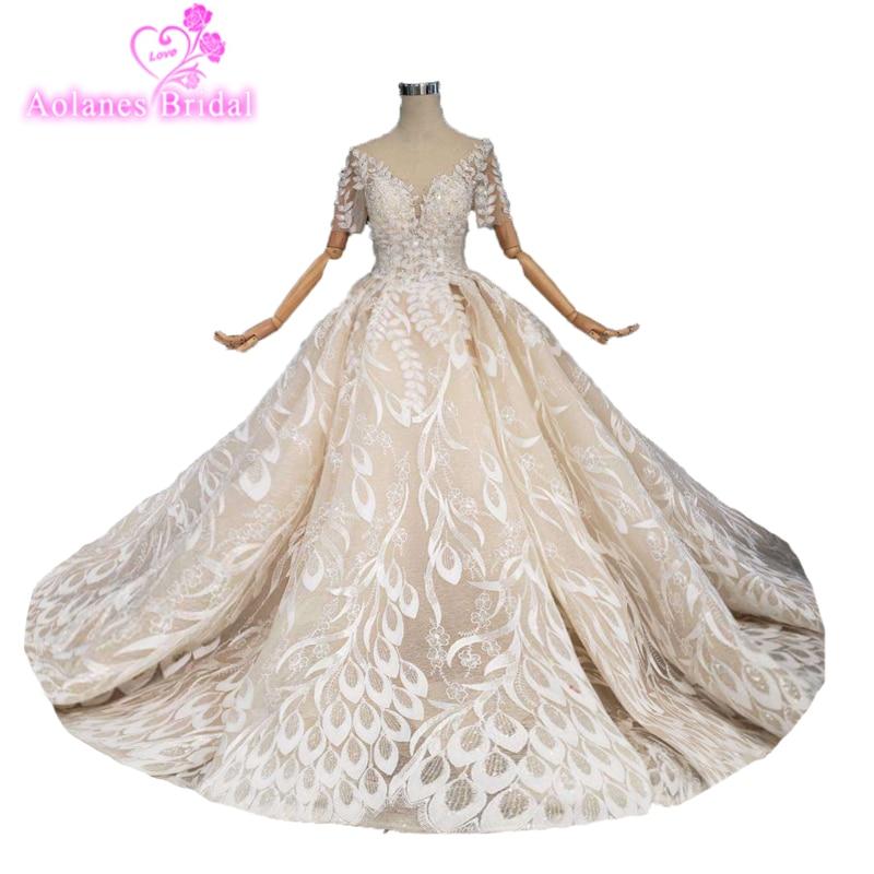 Женское кружевное платье без рукавов, длинное бальное платье с глубоким v образным вырезом и открытой спиной, арабское свадебное платье, 2019