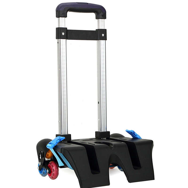 ФОТО Aluminum alloy Pull Rod Bracket Roll Cart Trolley School Bags easy climb stairs,mochila infantil rodinha mochilas reduce load