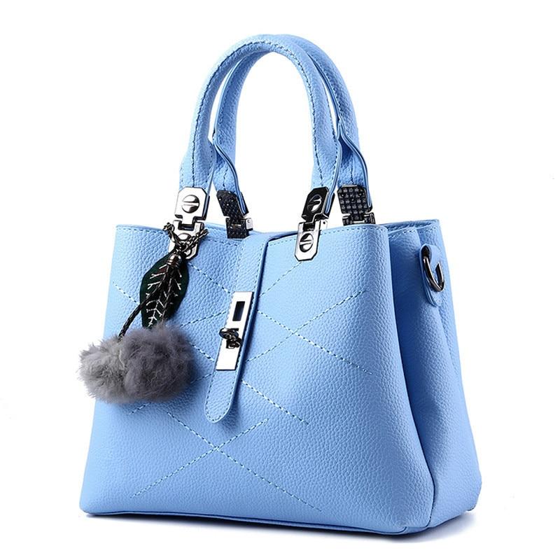 MONNET CAUTHY Bag Female Classic Elegant Fashion Sweet Lady <font><b>Handbag</b></font> Solid Color Sky <font><b>Blue</b></font> Lavender Beige Pink Red Crossbody Totes
