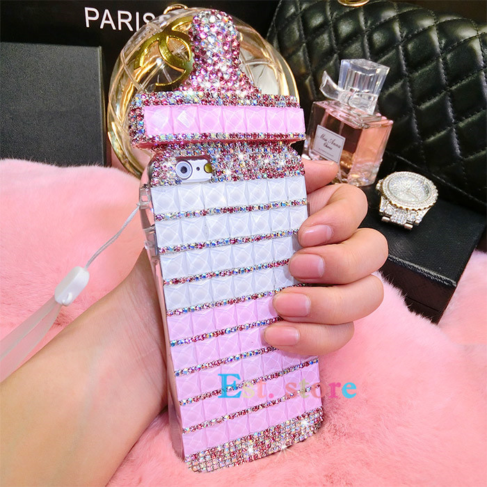 competitive price 86fb5 6953b US $18.99  2015 new arrival bling diamond Cute Baby bottle Nipple Milk case  for iphone 5 5s 6 6 plus 4.7 5.5 TPU cover with chain Lanyard on ...