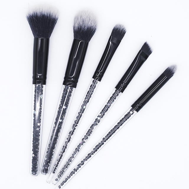 5 Piece Black Diamond Makeup Brush Set