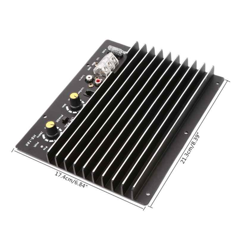 Новый 1 шт. DC 12 В 1200 Вт 100А авто усилитель звука для автомобиля доска HS-180 сабвуфер высокой мощности модуль цепи для 8/10 дюймов динамик