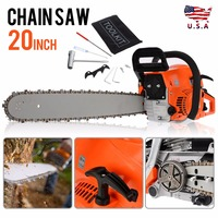 1 set New Gasoline Chainsaw 52cc Engine 20 Bar Petrol Chain Saw Woodworking Garden Power Tools