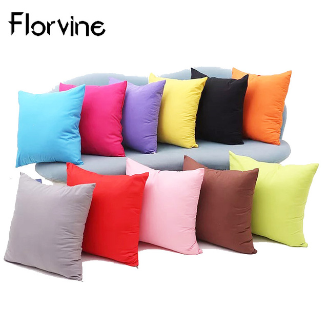 Us 3 56 21 Off Aliexpress Com Buy Cushion Cover Sofa Decorative Simple Solid Pillow For Chair Cushions Home Decor Housse De Coussin 45x45