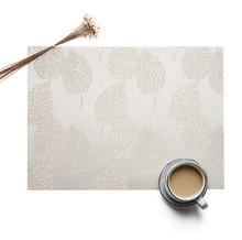 5pcs Square PVC European Style Jacquard Weave Western Food Mat Heat Insulation Non Slip food mat Home Kitchen Hotel Pads
