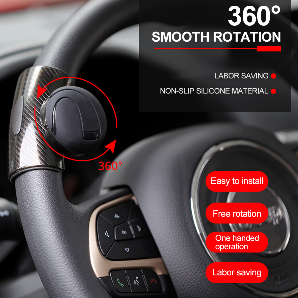 Auto Car Steering Wheel Aid Spinner Spin Clamp Knob Ball Booster Black 85*55mm 100% High Quality Materials Controllers
