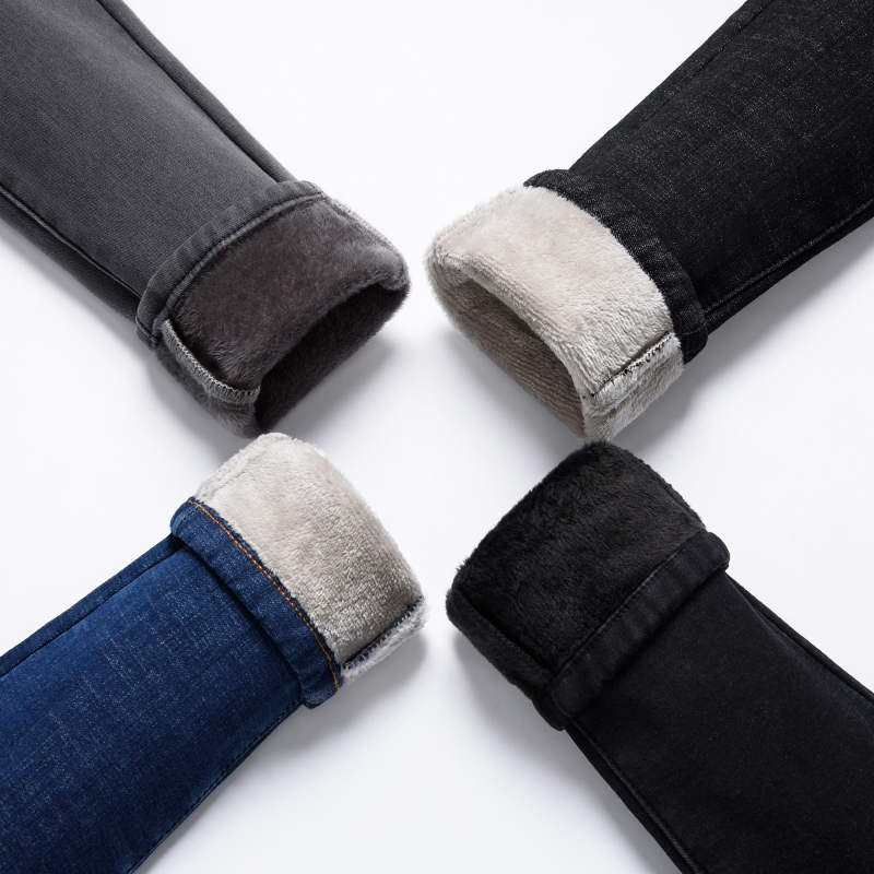Winter   Jeans   Women Plus Velvet Thicken High Waist Skinny   Jeans   Woman Long Pencil Pants Women Warm Denim Ladies   Jeans   Femme C5139